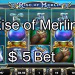 【オンラインカジノ】【ベラジョンカジノ】$5Bet RiseofMerlin 実践動画