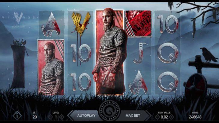 カジノスロット、ユーチューブ&解説!『Vikings video slot』(HBOのドラマ)
