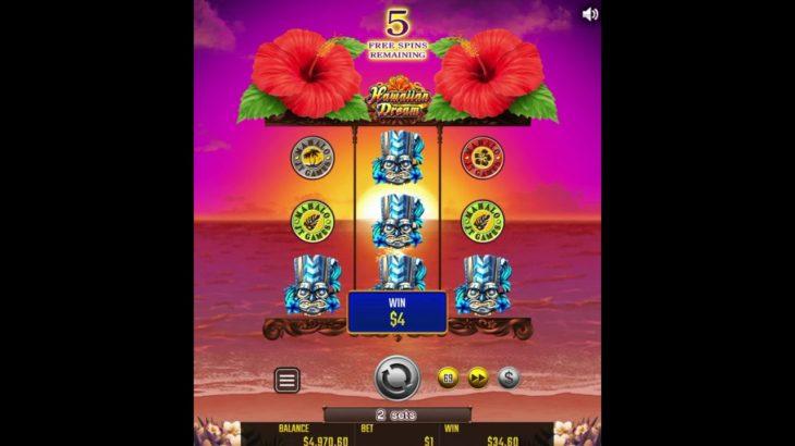 ネットカジノ・スロット、ほぼ日本のパチスロ、『Hawaiian Dream』レビュー&YouTube動画!