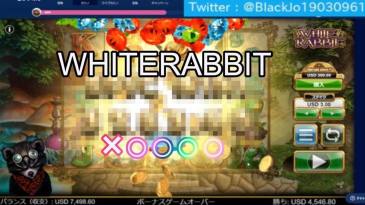 【オンラインカジノ】【カジ旅】WHITERABBIT(ホワイトラビット)のスロット実践!!